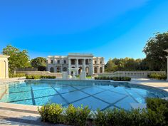 Le Palais Des Anges located at 9577 Sunset Blvd in Beverly Hills, CA. This mansion is located on the famous street Sunset Blvd in Beverly Hills, CA.  The home has 36,000 square feet and has 9 bedrooms and 13 full bathrooms.  The pool area itself is a replica of the one at Hearst Castle
