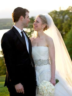 """The former First Daughter looked all grown up in a strapless silk Vera Wang gown as she said """"I Do"""" to Marc Mezvinsky in front of 400 guests on July 31 in Rhinebeck, N.Y. """"We could not have asked for a more perfect day to celebrate the beginning of their life together,"""" proud parents Bill and Hilary Clinton said in a statement, """"and we are so happy to welcome Marc into our family."""""""