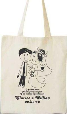 Sacola Ecológica Ecobag Para Lembrancinha De Casamentos