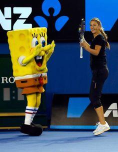 Victoria Azarenka la Kid's Day la Australian Open Professional Tennis Players, Australian Open, Bart Simpson, Victoria, Kids, Young Children, Boys, Children, Kid