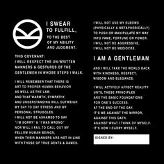 The Gentleman's Covenant. I used the Kingsman logo in the upper left corner.