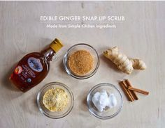 Ginger Snap Lip Scrub (Made from Simple Kitchen Ingredients) Winter can be rough on lips. Soften them up with an easy-to-make homemade ginger scrub.Winter can be rough on lips. Soften them up with an easy-to-make homemade ginger scrub. Homemade Beauty, Diy Beauty, Beauty Hacks, Wet Lips, Kissable Lips, Ginger Snaps, Beauty Recipe, Lip Art, Health And Beauty