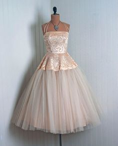 Champagne Pink 1950's Dress