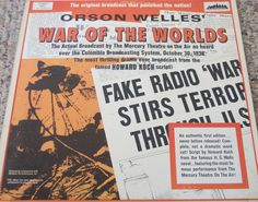 "Orson Welles / War Of The Worlds / Two 12"" Vinyl LP Records / 1938 Broadcast #OrsonWelles #WarOfTheWorlds #Album"