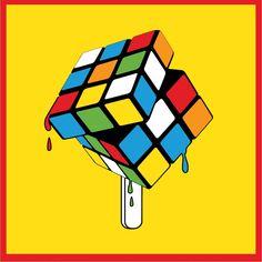 neon rubik's cube - Google Search