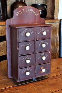 EARLY 1800'S ANTIQUE PRIMITIVE APOTHECARY WOOD SPICE CABINET CUPBOARD OLD CRATES