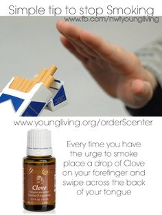 Something to help you quit smoking ~ If you are interested in learning about Young Living Essential Oils, shoot me an email at jallenhere@hotmai...! YL Member #1522469
