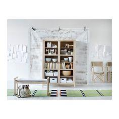 BJÖRKSNÄS Vitrineskap med 2 dører  - IKEA