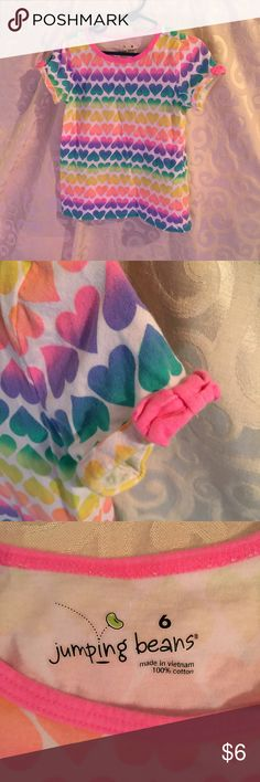 Jumping Beans Heart Tee • Great for Valentines Day Jumping Beans Heart Tee • Great for Valentines Day • EUC • Lightly loved LOVE 💕 the item, but not the price? Send me a reasonable offer through the offer button! 🔵  S😢RRY, Offers will NOT be negotiated through comments. Smoke FREE 🚭 Pet FREE Home  Sorry No 🚫Trades! N🚫 Lowball Offers Please 😉 N🚫 Transactions OFF of Poshmark!  Please be considerate when posting a rating. Make sure that you have read the ENTIRE listing CAREFULLY PRIOR…