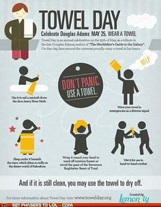 Hitchhikers Guide to the Galaxy - Happy Towel Day!