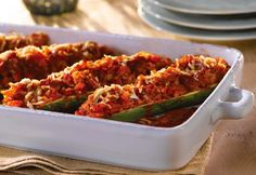 Weight Watchers Recipes, Healthy Weight Watchers Stuffed Zucchini Recipe And Only 6 Points Plus Per Serving. Free Weight Watchers Recipe For Stuffed Zucchini. Points Plus Recipes, Ww Recipes, Cooking Recipes, Healthy Recipes, Kitchen Recipes, Drink Recipes, Dishes Recipes, Healthy Foods, Pumpkins