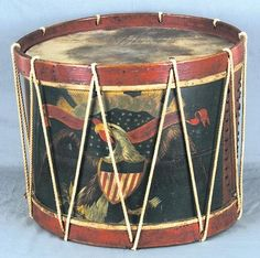 Civil War era drum with emblazoned eagle and Union shield.  Manufactured by Wm. H. Horstmann & Son, Philadelphia.