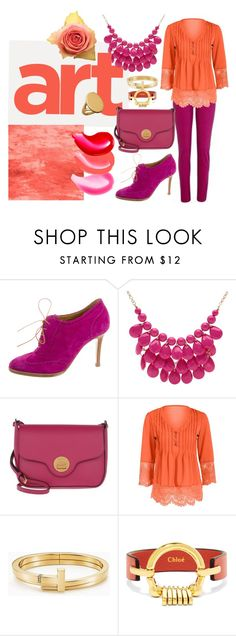 """Untitled #1354"" by vronvron ❤ liked on Polyvore featuring Ralph Lauren Purple Label, Alexa Starr, Coccinelle, Tiffany & Co., Chloé and Links of London"
