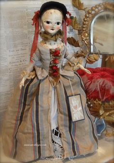 18th century-inspired lady doll ~ nicol sayre
