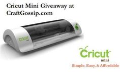 Cricut Mini Giveaway - these look so cool, I've just never been able to justify buying one. But winning one woudl be cool!