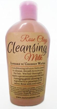 Rose Clay Cleansing Milk Infused w/ Coconut Water by NurCreations