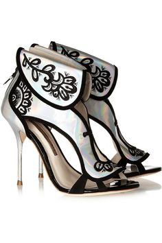 Leoni holographic leather sandals on Chiq  $795.00 http://www.chiq.com/leoni-holographic-leather-sandals