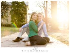 A UNC Chapel Hill Engagement session by Silver Feather Studios, a North Carolina Wedding Photography & Cinematography company.