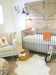 sweet modern country nursery
