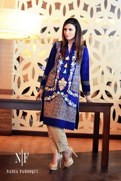 9e7eb54adb Nadia Farooqui Winter Dresses Collection 2014-15 for Women 7 Formal Dresses  2015