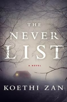 (1)The Never List by Koethi Zan | Charlotte's Web of Books -- Absolutely disturbing psychological thriller about three women who survived the unimaginable.