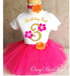 Fast Shipping Birthday Orange Green Pink by BirthdayTutuOutfits