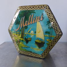 A Dutch Grocery Tin from Van Melle Holland Breskens Mellini Orient Nile