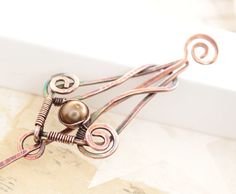 Shawl pin scarf pin in Gothic inspired design with by IngoDesign - Etsy