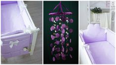 Lilac Baby Mobile handmade exclusive by BestDreamcatcherShop