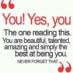 You! Yes, you!