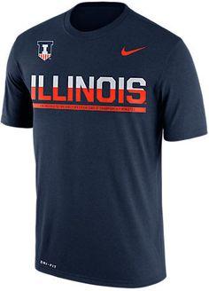 NIKE TEAM Men's Nike Illinois Fighting Illini College Legend Sideline T-Shirt