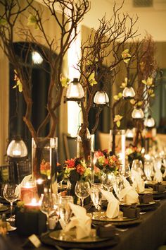 Bringing the rustic feeling of the outdoors in, however make sure that the flora that you will be using is suitable for the venue. For example I would not recommend this for a stately home as it may take away the attention from the historic detailing.