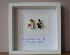 Personalised Framed Classic Wedding Gift Picture made from Lego ® Mini Figures