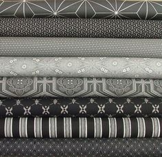 Katagami Fat Quarter Bundle of 8 from the by SistersandQuilters