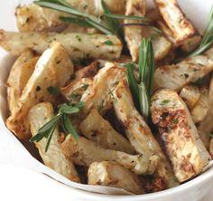 """Patatas"" fritas de apio nabo | #Receta de cocina | #Vegana - Vegetariana ecoagricultor.com"