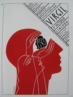 """Virgil"" Poster by Luba Lukova Graphic Design Posters, Graphic Design Illustration, Graphic Design Inspiration, Typography Design, Graphic Art, Illustration Art, Creative Illustration, Buch Design, Design Art"