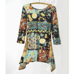 Abstract Floral Tunic - Women's Clothing, Jewelry, Fashion Accessories and Gifts for Women with a Flair of the Outdoors   NorthStyle