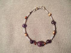 Handmade Beaded Bracelet  Amethyst & by LaurelMoonCreations, $7.99