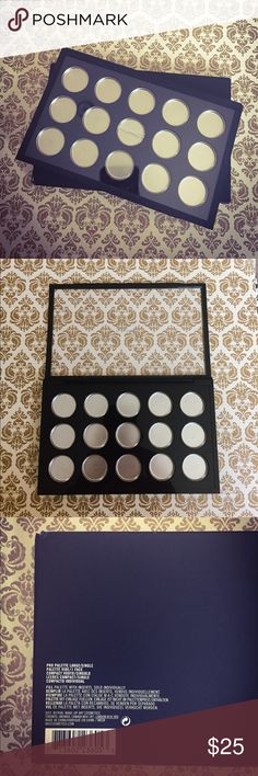 BNIB MAC Pro Palette Single Compact BRAND NEW IN BOX. MAC Pro Palette 15 Pan Single Compact. Includes insert and 15 x 1 inch pans. Perfect for depotting your favorite products, keeping your samples in one place, or make a personal gift for someone. MAC Cosmetics Makeup