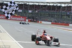 The Checkered Flag at the Silverstone Circuit.
