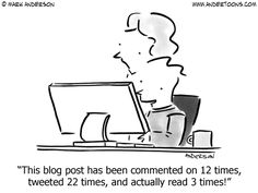 Blog Humor | Blogging Cartoons by Andertoons via  Mom vs the Boys