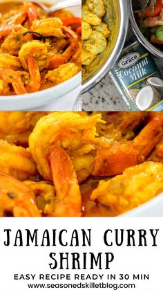 Shrimp Recipes Easy, Entree Recipes, Easy Dinner Recipes, Seafood Recipes, Jamaican Curry Powder, Curry Goat, Jamaica Food, Starter Recipes, Curry Shrimp
