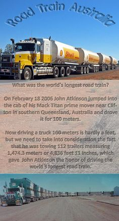 Road Trains in Outback Southern Queensland, Australia!.  v@e.