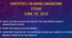 Proceeding in the Philippines have been made on Swertres Result, a lottery please related by the Philippine Charity Sweepstakes Office or PCSO. This redirection is played on various occasions each day with 5 hours break between draws. 5 Hours, Philippines, Charity, Day