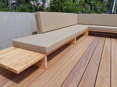 Deck Seating, Backyard Seating, Backyard Patio Designs, Diy Patio, Outdoor Seating, Outdoor Bar And Grill, Outdoor Grill Station, Outdoor Lounge, Outdoor Spaces