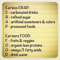 Eat more food...