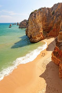 Lagos Portugal: Dona Ana Beach Lagos, Algarve, Portugal...Almost got caught during high tide at this beach!
