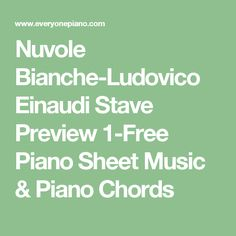 Nuvole Bianche-Ludovico Einaudi Stave Preview 1-Free Piano Sheet Music & Piano Chords