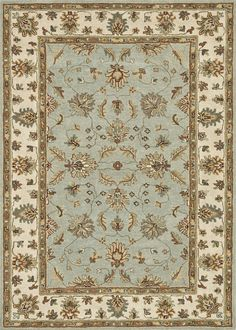 Fairfield Turquoise / Ivory 5Ft 0In X 7Ft 6In Rug
