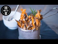 Crispy sweet potato and parmesan fries without the fryer - YouTube